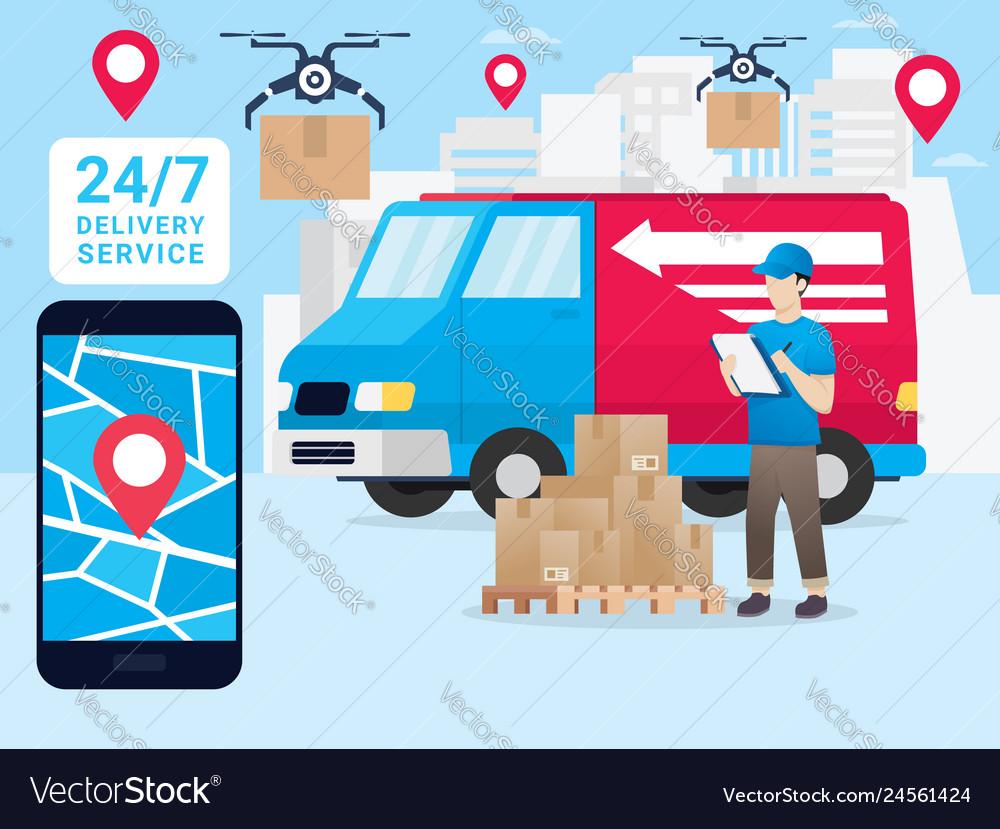 DỊCH VỤ CHUYỂN HÀNG VÂN ĐỒN XANH EXPRESS logistic-delivery-vector-24561424.jpg